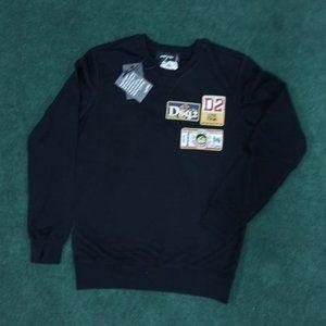 Dsquared2 Black Sweatshirt With Emblems NWT